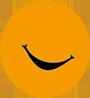 Kreis-humorkolleg-orange-Smile-90px